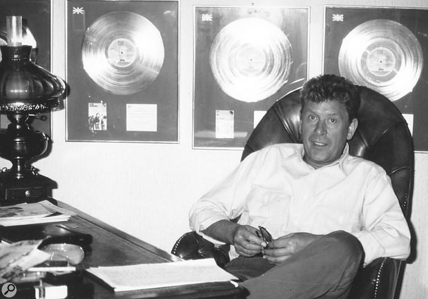 Mickie Most in his office at RAK Studios.