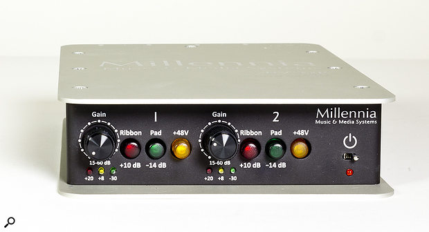 The Millennia HV-32P dual-channel preamp.