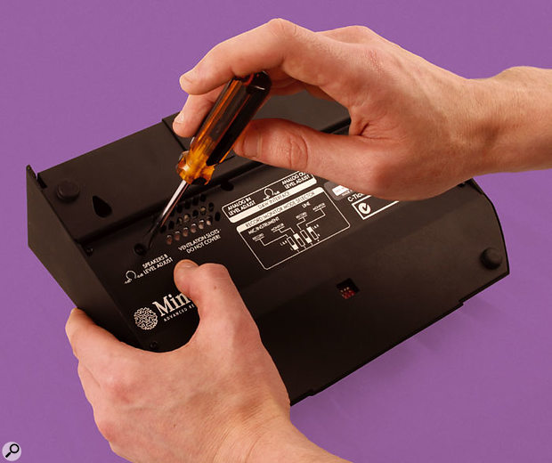 A further trim pot on the left-hand side of the Trio's underside allows level adjustment of one of the three pairs of speaker outputs. All the trimmers are recessed to avoid accidental misalignment, and are slotted to allow easy adjustment using a flat-blade screwdriver.