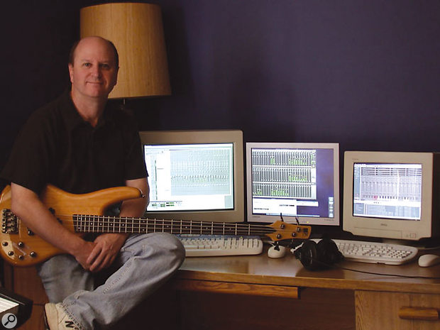 Mark Knecht with his Windows and Linux DAWs.