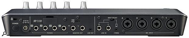 Tascam Mixcast 4 rear panel
