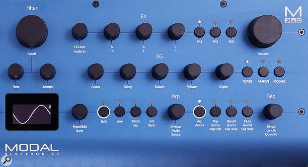 Modal Electronics Cobalt 8 right control panel close-up