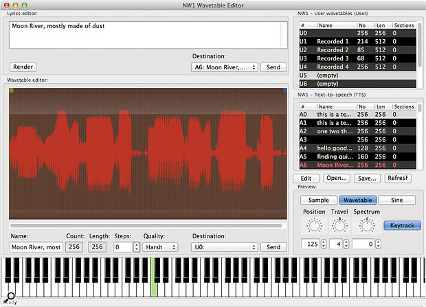 NW1 Wavetable Editor [Mac/PC].