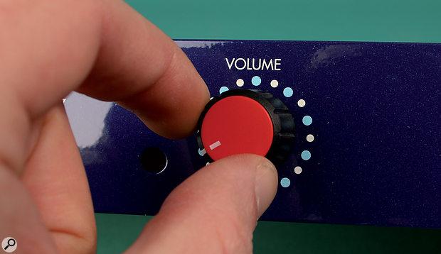 Volume level setting.