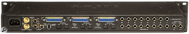 The 2408 Mk3 is designed to cater for almost every I/O requirement, offering eight-channel analogue in and out as well as 24 channels of ADAT and TDIF-format digital I/O.
