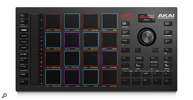 The Akai MPC Studio controller.