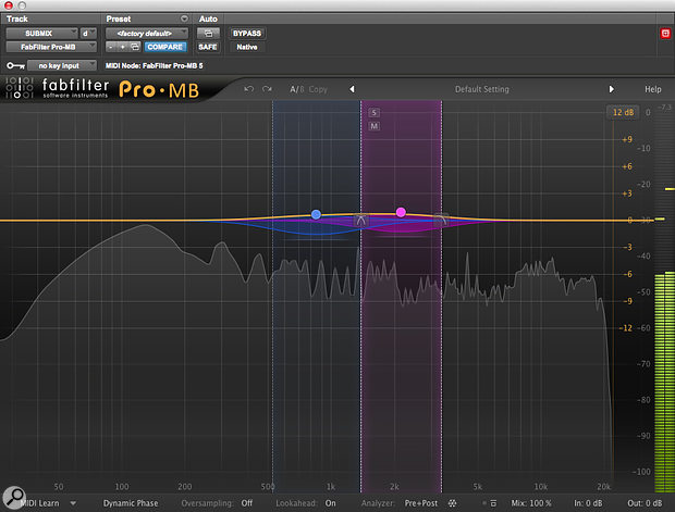 More multiband compression helped to squeeze the most out of the all-important mid range.