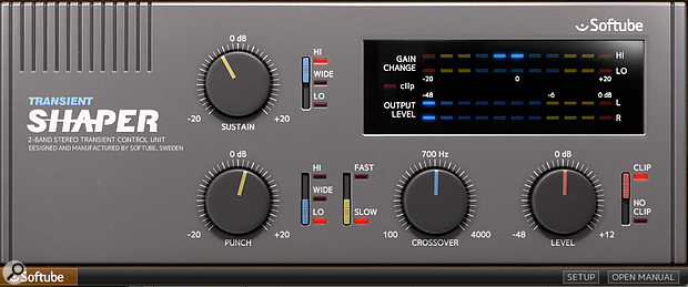 The Softube Transient Shaper was used to give the snare some extra low-end punch.