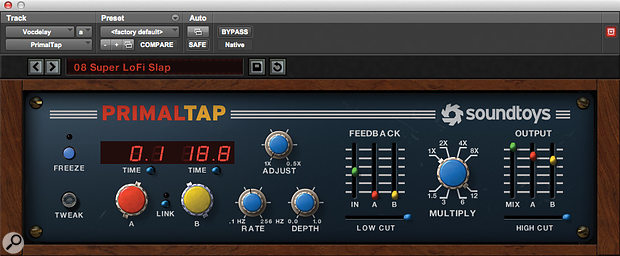 Numerous effects were applied to Paul's excellent lead vocals including SoundToys' Primal Tap.