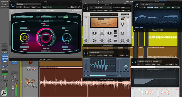 A modest application of Unmix:Drums' Bass Synth feature was used to add some extra weight to the kick drum.