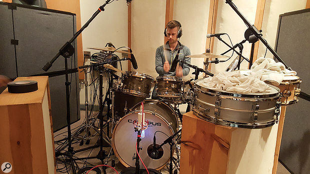 The final drum tracks were compiled from takes featuring different snare drums, so there was a clear case for multing the snare-mic signals at mixdown.