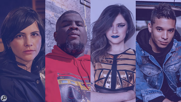 Pictured (L-R): Maria Elisa Ayerbe, Salaam Remi, DJ Ali Stone, and Christian Pagán