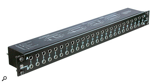Neutrik 48 Jack patch bay.