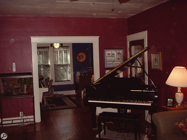 The Yamaha C3 piano in the Beech House has been modified to output MIDI.