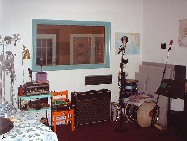 The main recording area at the Beech House.