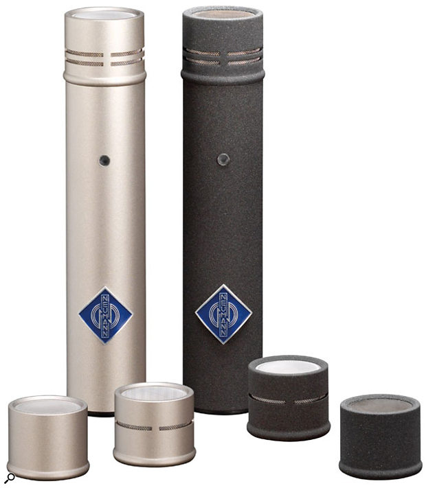 The review model was the cardioid KM184D, pictured left. Also available are the KM183D (diffuse-field equalized pressure transducer with a free-field treble boost) and KM185D (hypercardioid) and all are available in either black or nickel finish. The KMD mic body is available separately, as are the interchangeable capsules (KK183, KK184 and KK185). Further capsules are anticipated.
