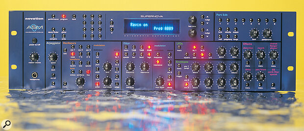 Novation SuperNova rackmount synthesizer.