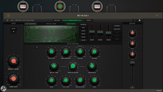 RE-1 running within AUM as an AU v3 plug-in.