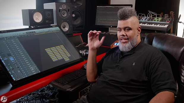 Producer Oak Felder in his studio.