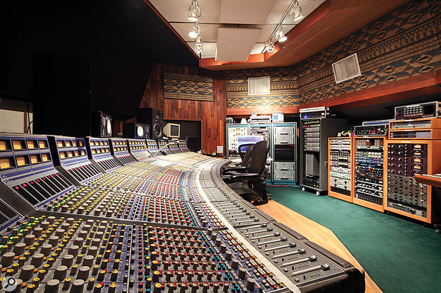 The Studio A control room features a unique Focusrite console.