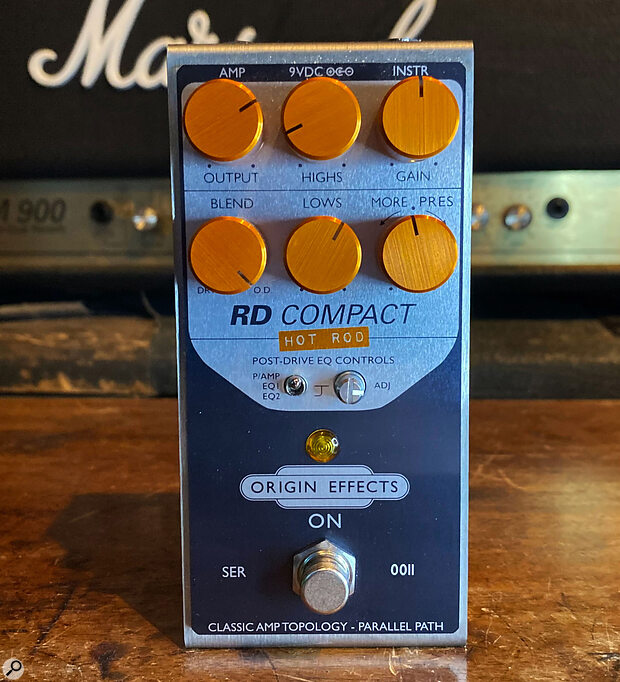 Origin Effects RD Compact Hot Rod  Guitar Preamplifier Pedal