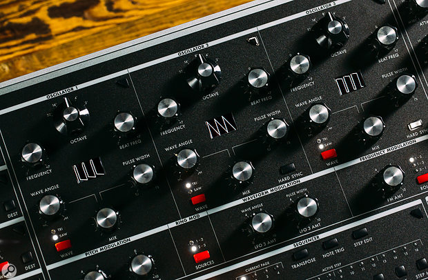 Moog One: Oscillators and Modulation controls.