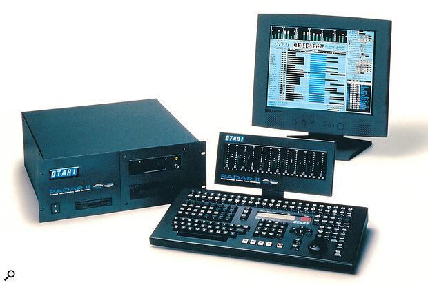 Otari RADAR II system showing RADARVIEW on the screen.