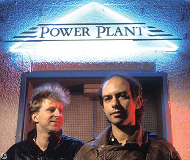 Robin Millar (left) with Mike Pela outside the Power Plant, where they produced Sade's album Promise.