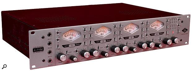 Universal Audio 4710d front panel.