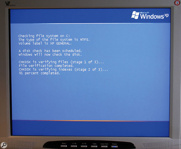 Running CHKDSK a couple of times a year to scan and fix any hard drive errors is a wise precaution that will help keep your PC running smoothly.