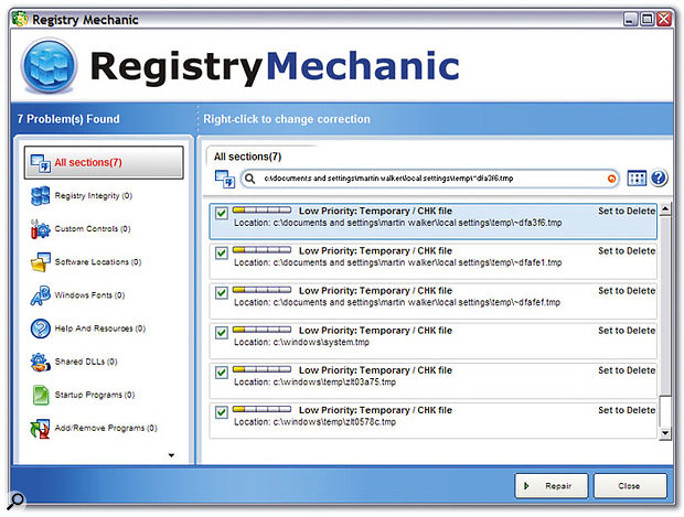 Utilities such as Registry Medic and Registry Mechanic will keep your Windows Registry free of redundant entries and references to non-existent files.