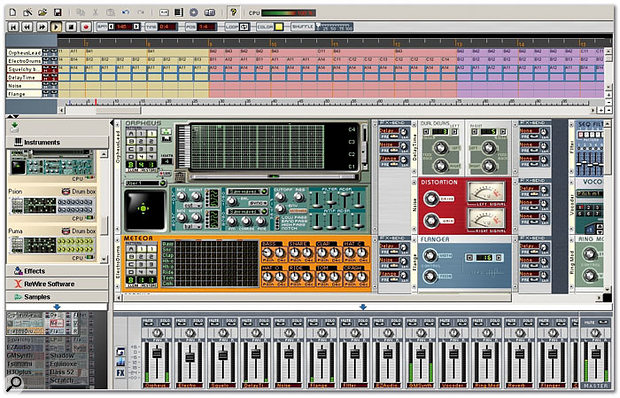 If you want the kind of self-contained music-making environment that many musicians find far simpler to comprehend than a traditional MIDI + Audio sequencer application, a soft-synth studio workstation (such as Arturia's £130 Storm 3, shown here) may prove suitable.
