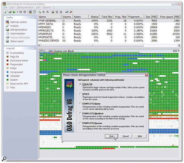 With a variety of defragging methods on offer, O&O Software's Defrag 6.5 initially seems a perfect candidate for the musician, although on closer inspection the options may not do exactly what the doctor ordered.
