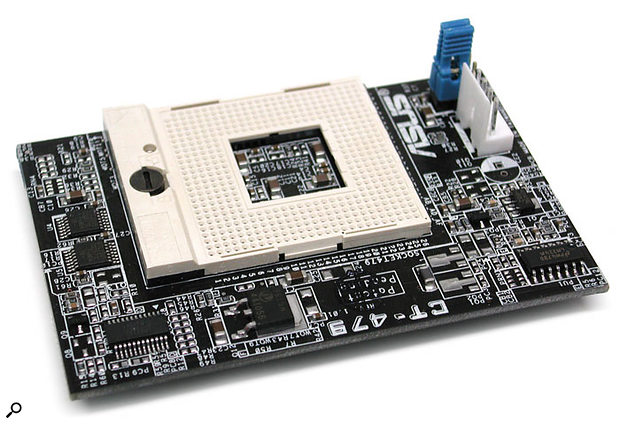 Selected Asus Socket 478 motherboard owners can now retrofit a Pentium M processor, courtesy of this CT479 CPU Upgrade Kit, for just £33.