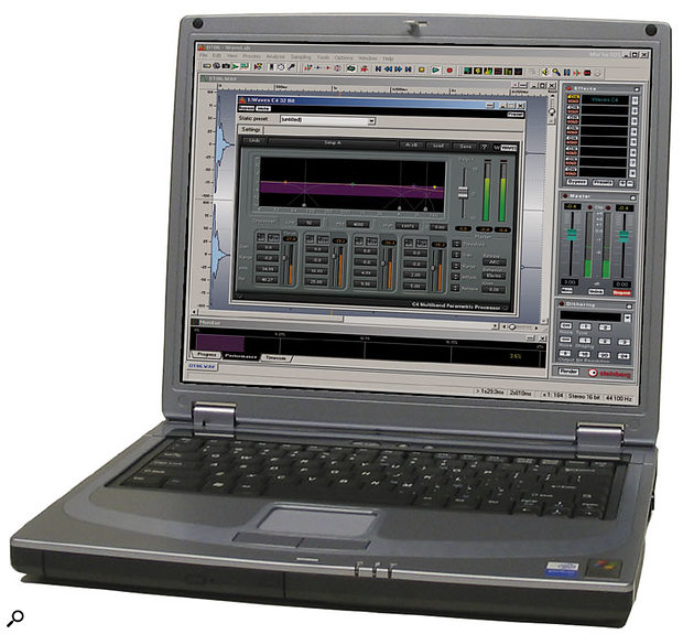 The 1.4GHz Pentium-M processor in Millennium's Centrino laptop ran Waves' C4 multiband compressor plug-in with 3.6 percent CPU overhead — exactly the same figure as I measured recently for a desktop PC fitted with a 2.8GHz Pentium 4 processor!