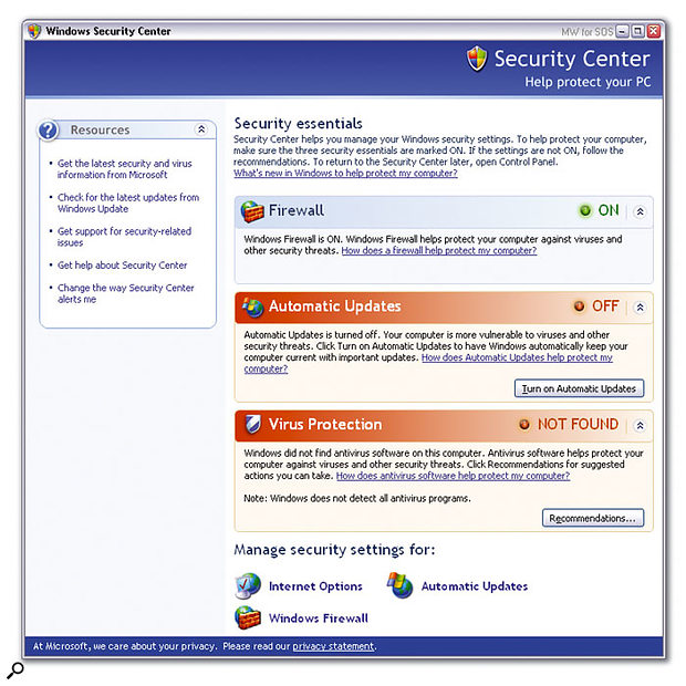 The most obvious outward sign that you've installed Microsoft's Service Pack 2 for Windows XP is the new Security Center (sic). You should install SP2 on any PC connected to the Internet, but there are some caveats (see main text).