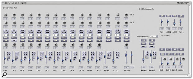 For dedicated Console makers, the sky's the limit. This Console, by Pieter Van Der Wal, controls aspects of a Yamaha 01V.