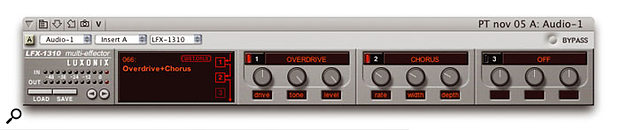 The 'V' button in DP 4.6's effects windows switches them between viewing plug-ins in your sequence and in a V-Rack. It doesn't transfer a sequence's plug-in to a V-Rack, or vice versa.