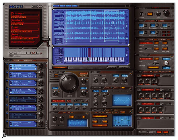 Mach Five Mk II: MOTU have made multiple enhancements to the new version of their soft sampler.