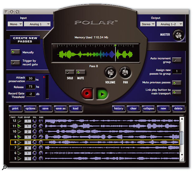 The POLAR loop recorder offers remarkable flexibility for capturing multiple takes or layering multitrack textures and is just one of Digital Performer's easy and time-saving ways to get creative.