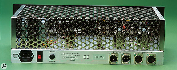 Phoenix rear panel connections.