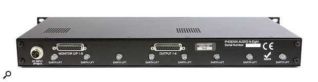Both the main and monitor outputs are delivered via D‑subs. Although each output is tapped from a different side of the same transformer, the design means that they always sound identical, differing only in level.