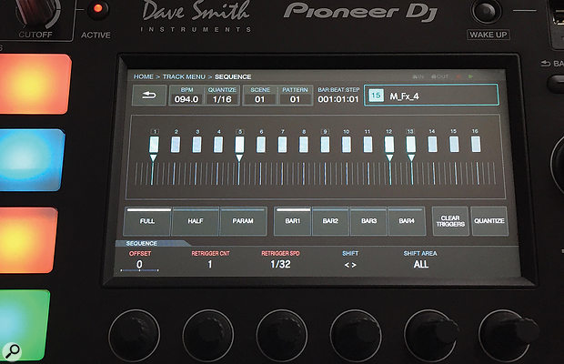 The SP‑16 has much deeper sequence editing than a typical drum machine.