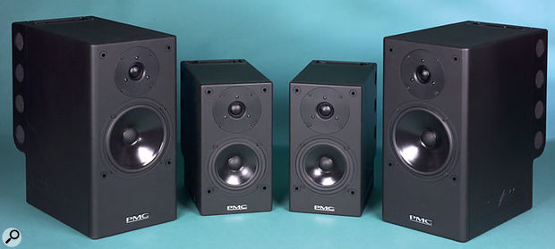 The TB2SA (outside) and DB1SA (inside) monitors, complete with their Flying Mole amplifier packs.