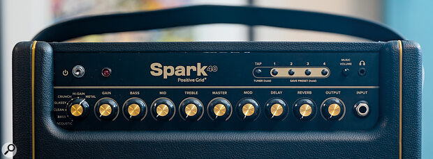 Top‑panel controls allow you to use the Spark much as you would any conventional amp, which makes it familiar to use—though you'd be mad to avoid the app completely!