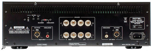 This Rotel RB-1552 MkII amp provides both balanced (XLR) and unbalanced (Phono) inputs.