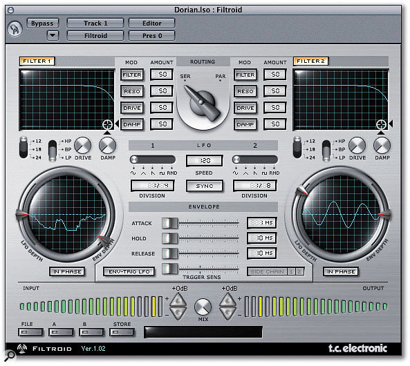 The Powercore Compact and Firewire software bundles also include the Filtroid dual filter plug-in.