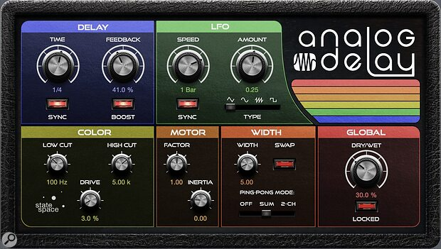 PreSonus Analog Delay plug-in.