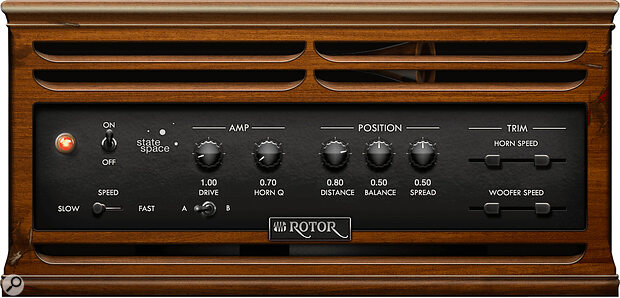 The Rotor plug‑in sounds impressive on guitars.