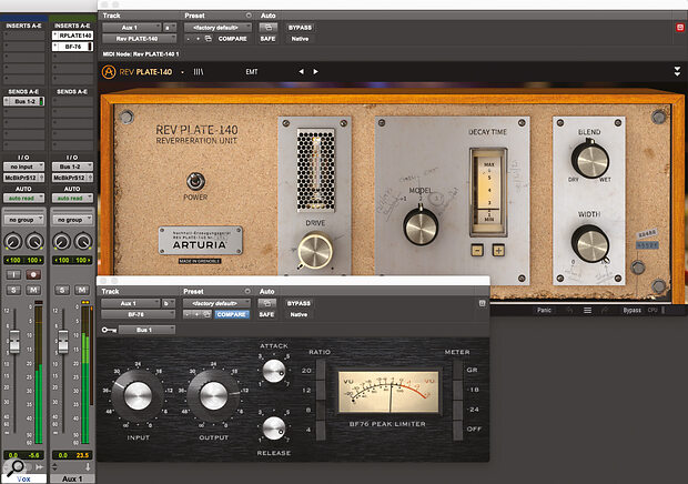 Ducking the reverb by sending the source both to the reverb and to the side‑chain input of a compressor on the reverb track.